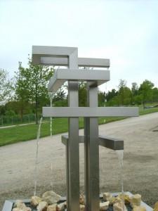 RVS waterornament: Fontein Labyrinth Quattro