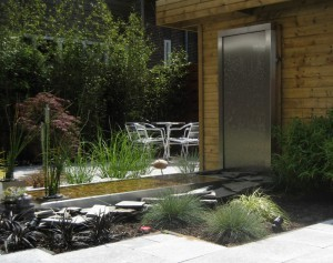 RVS tuin: Waterwand en watertafel