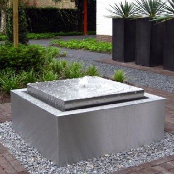 Rvs fonteinbak op maat gardinox bv for Vierkante vijver maken