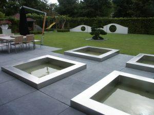 RVS design tuin: Vijverbakken op maat